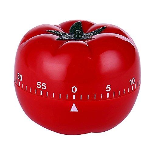Tomato Mechanical Kitchen Timer,60 Minutes Vegetable Cartoon Timer Ringing Alarm (Tomato)