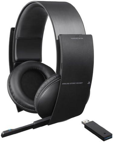 Sony Wireless Stereo Headset - Auriculares con micrófono de diadema cerrados, USB, inalámbricos, negro: Amazon.es: Videojuegos