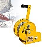 HDMENG Cabrestante Manual Pequeño, Cabestrante Manual con Freno y 10m Cable para ATV, Buggies, Remolques, Quads Y Barcos, Grúa Tirar Pluma Tracción 1800lbs