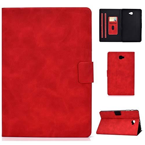 Tablet PC Case para Samsung Galaxy Tab A 10.1 (2016) T580 / T585 Funda de cuero Horizontal de la textura de la textura de la textura con el soporte y las ranuras de las tarjetas y la función de descan
