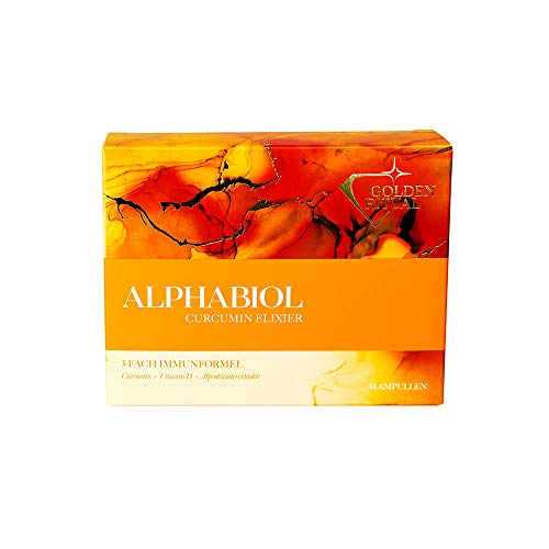 alphabiol Curcumin Elixier - Curcuma + Vitamin D Trinkampullen, 2 Wochen Kur