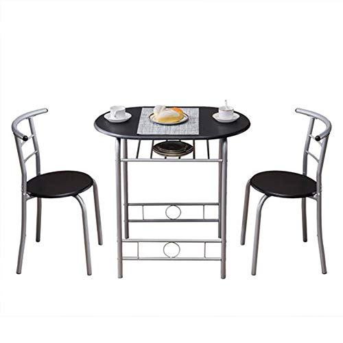 Breakfast Table (One Table And Two Chairs) Black Ktichen Living Room Dining Table