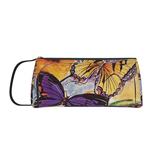 Flight-of-The-Butterfliesbig Large-Capacity Pencil case, Pencil case, Pen Holder, wash Cosmetic Bag Storage Bag, Portable Double Zipper