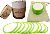 YOUR VIP SKIN - 20 Discos Desmaquillantes Reutilizables - Almohadillas limpieza facial Bambú Orgánico - Algodón Ecológico ojos- Bolso de Lavandería de regalo