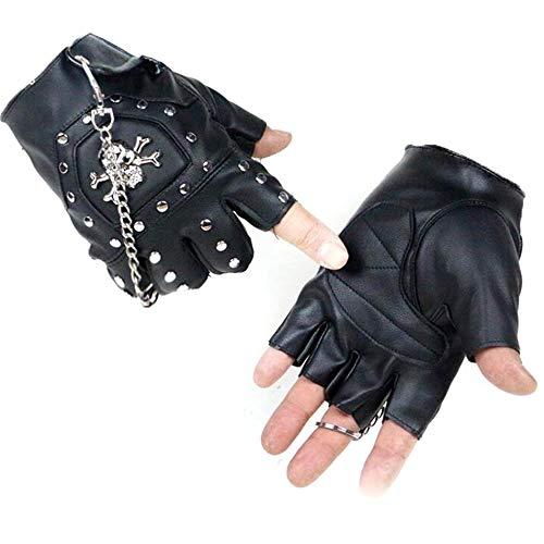 Shantou Half Finger lederen handschoenen heren Outdoor Sports Pu Fitness Skid