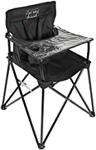 ciao! baby Portable High Chair for Travel, Frustration Free Fold Up High Chair with Easy Clean Tray, Black