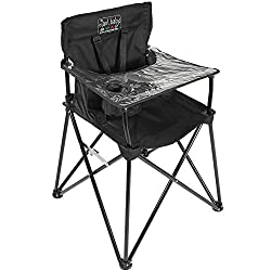 Portable high chair great for safely camping with kids