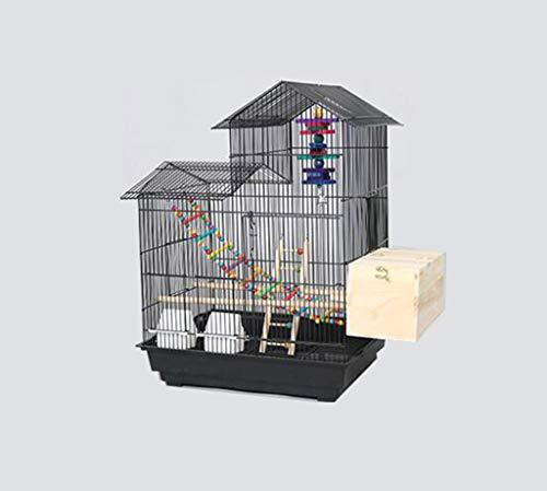 Space- rack Z-W-Dong Maison Type Cage Perruche, Robuste de Boîtes d'élevage en Acier Inoxydable Cages for l'affichage et la visualisation Oiseaux/Cages à Oiseaux (Color : C, Size : 52 * 41 * 70CM)