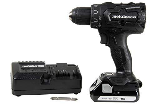 Metabo HPT DS18DBFL2QB 18V Cordless Driver Drill, 1.5 Ah Lithium Ion Battery, LED Light, Brushless, Lifetime Tool Warranty, Black Design