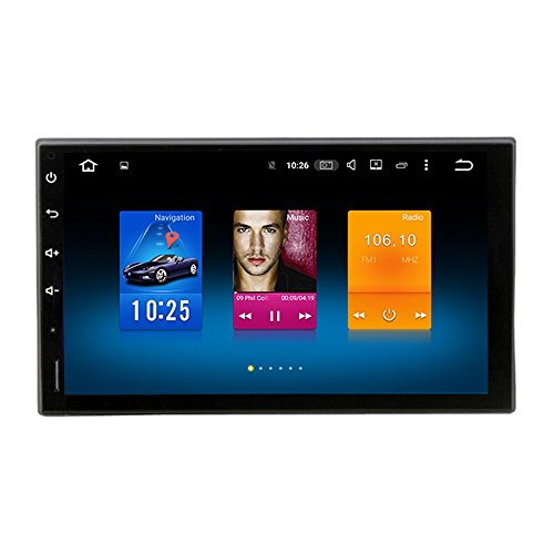 Price comparison product image Dasaita 7 Inch Android 9.0 Universal Double Din Car Stereo (4G RAM+32G ROM) Octa-Core PX5 Chip Size 176 101 Pure Touch Screen Stereo