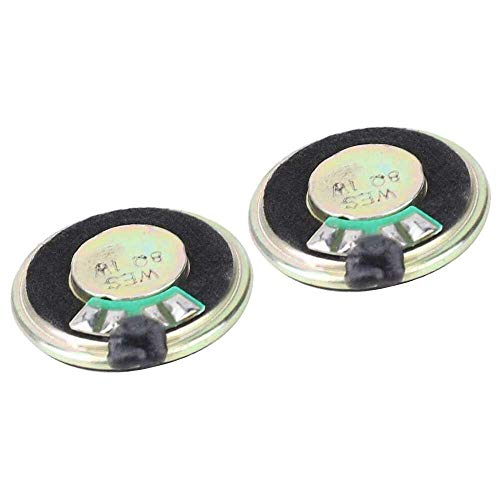 Yuyanshop 2 unids 8ohm 1 W altavoz audio estéreo 28mm diámetro altavoces coaxiales para caja de altavoz