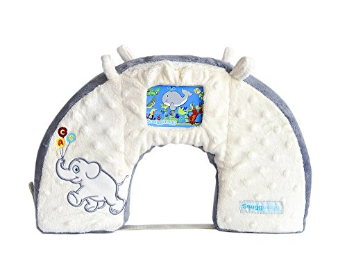 Snuggwugg Infant Toddler Wiggle Free Diaper Changing Interactive Tummy Time Pillow Great for Travel & Baby Support