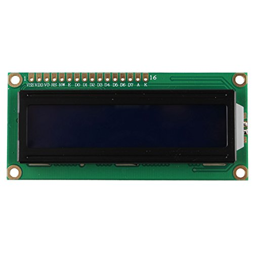 HALJIA 5V 1602 16x2 Character LCD Display Module Blue Blacklight Compatible with Arduino UNO MEGA R3