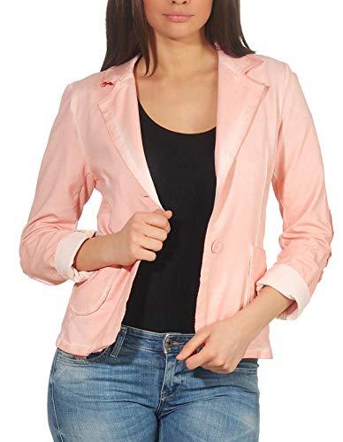 malito dames Blazer in Washed Style | Jasje in Basic Look | Kort jasje met knopen | Jasje - Jacket - Blouson 1652