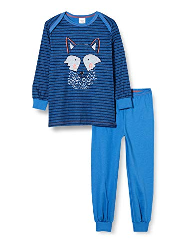CALIDA Unisex Baby Toddlers Wolf Pyjamaset, Star Blue, 116