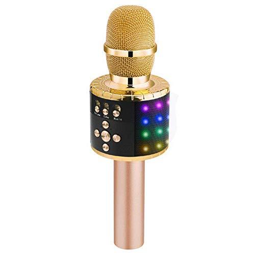 LLD Hand Mikrofon Audio, Wireless Mikrofon, Echo Reverb Einzel Lautsprecher mit Membran-Soundeffekt, Geeignet für Computer/Bühne/KTV usw.