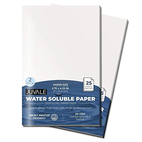 Juvale Spy Paper Dissolving Note Pad (4.25 x 2.75...
