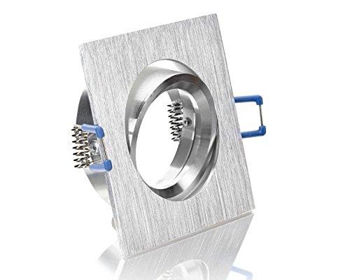 Einbaustrahler Eckig Bicolor ALU Einbauleuchten Unterbauleuchten Aluminium Schwenkbar geeignet für MR16, GU10 LEDs 230V Hochvolt Halogen Niedervolt Halogen IP20