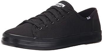 Keds womens Kickstart Seasonal Solid Sneaker Black/Black 8.5 US