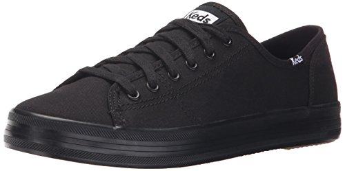 Keds womens Kickstart Seasonal Solid Sneaker, Black/Black, 7.5 US