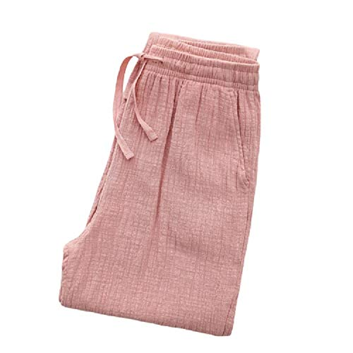 Bedgown Lovers' Couples' Katoen Zachte Lente Zomer Herfst Winter Dik Vest pyjama Broek Pyjama ' s/Nachtjapon Professioneel Design/Roze/M/Vrouw