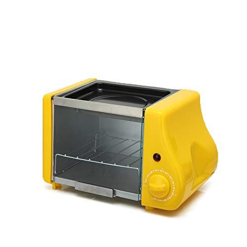 SMEJS Multifunción Mini eléctrico for Hornear Panadería asado Horno Grill Huevos fritos Sartén Tortilla Desayuno Pan de la máquina tostadora Tetera (Color : A)