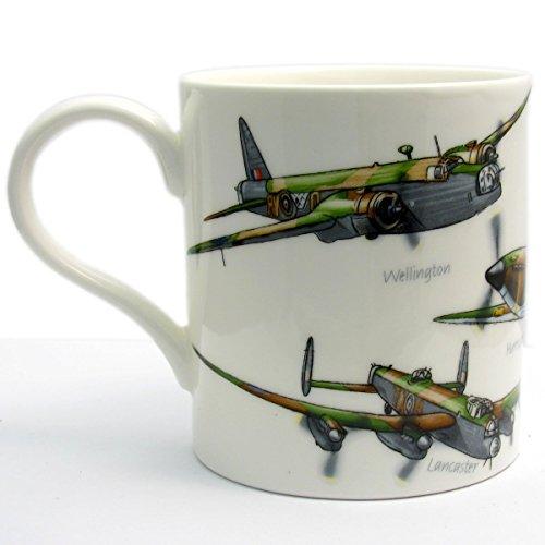 Classic Planes Fine China Mug by Leonardo - Hurricane Lancaster Spitfire Wellington Beaufort- Boxed by Leonardo