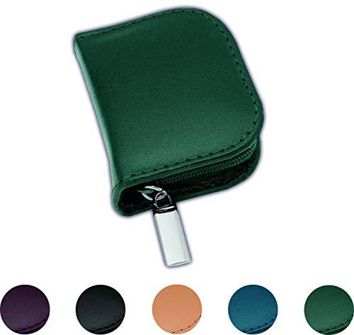 Homöopathie Taschenapotheke Klassik mit 10 Klargläsern Leder grün für Globuli