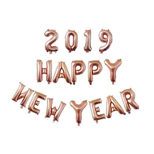 linjunddd 2019 Luftballons Set Frohes Neues Jahr Brief Aluminium Foil Balloons Jahrestag Neujahr Partyzubehör Dekoration Startseite Party Decor Rose