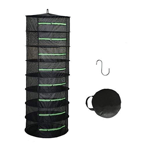 QINAIDI Rack de Secado de Hierbas con Cremallera, Rack de Secado Plegable Colgante, Secador de Malla