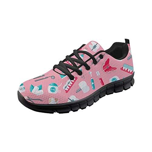 POLERO Sneaker Zapatillas de Deporte Equipo Dentista para Dama Mujer con Cordones 40 Talla Europea