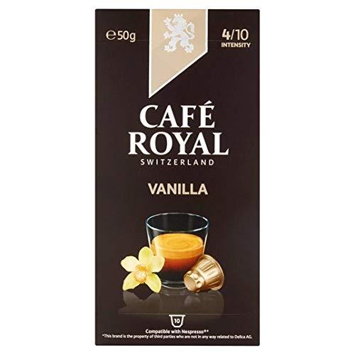 Cafe Royal Vanille aromatisiert Nespresso kompatibel Kaffeekapseln 10 pro Packung