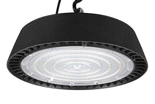 Hyperikon UFO High Bay LED Lighting Fixture, Commercial Shop Light, Dimmable, UL, 5700K, 200 Watts