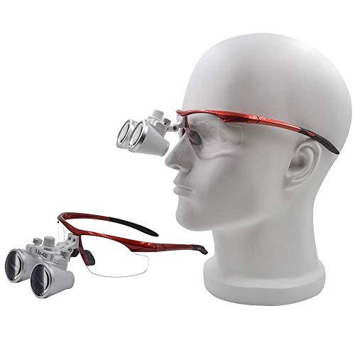 GoDen 3.5倍拡大鏡 双眼ルーペ 虫眼鏡 レッド