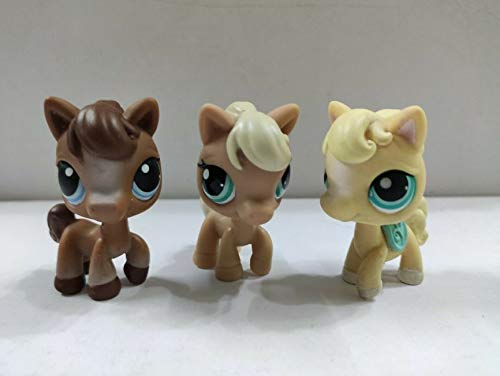3pcs Littlest Pet Shop LPS Figure Horses Kid Toy