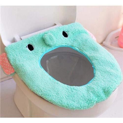 Toilet Mat Morbido Caldo Lunga Tavolette Copriwater Peluche Zerbino 1 PC Pad Coperchio Confortevole Lavabile Chaud Salut WC (Colore : 4)