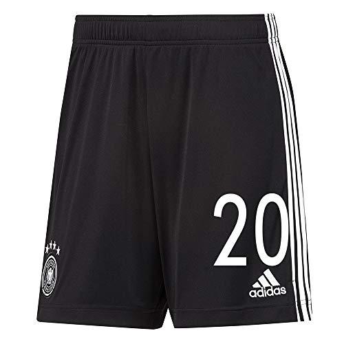 adidas UEFA Fußball DFB Deutschland Home Heim Hose Shorts EM 2020 Kinder Gnabry 20 Gr 152