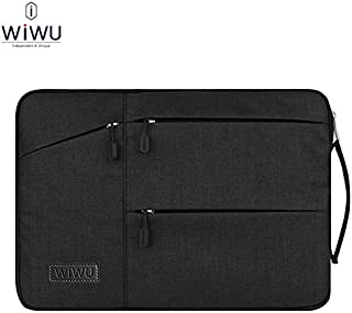 WIWU 13.3 inch Laptop Sleeve Premium Water Resistant Shockproof Laptop Case with Handle and Accessory Storage for 13 Inch MacBook Pro Retina MacBook Air Surface Laptop Black