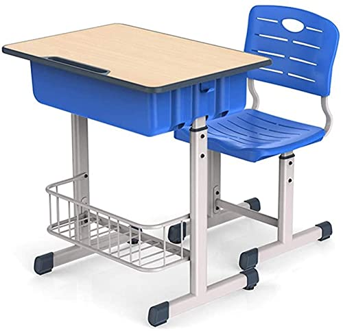 Juego de escritorio y silla para niños Juego de escritorio y silla para niños Juego de mesa y silla de estudio para niños ajustable en altura Juego de mesa y silla de estudio combinada para niños con