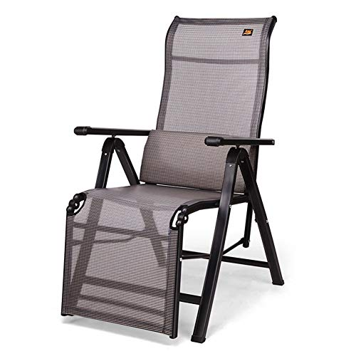 HOUMEL Garden Loungers And Recliners Folding Adjustable Sun Lounger Chair Sunbed With Free Lumbar Pillow For The Beach Pool Outdoor Patio Camping Feet Steel c2024 (Color : Black)