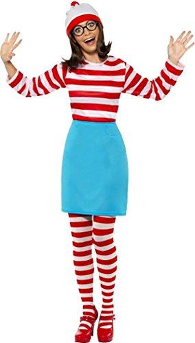 Smiffy's film/tv dames gelicenseerde chique jurk waar is Wally Wenda kostuum volledige outfit