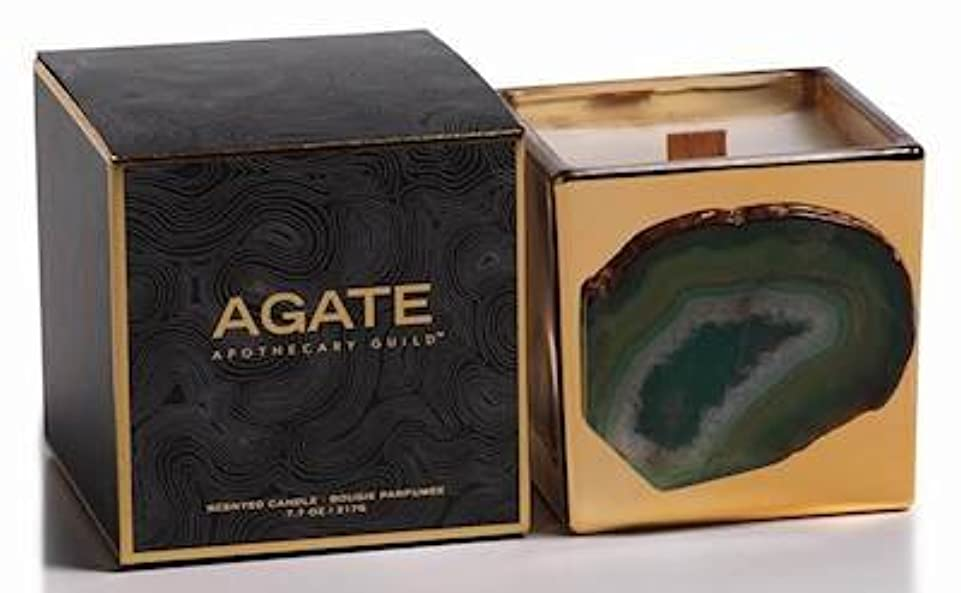 うなずく回転浸すZodax Agate Scented Candle Jar 50 Hours Burn Time- Siberian Fir (217gm / 7.7oz)