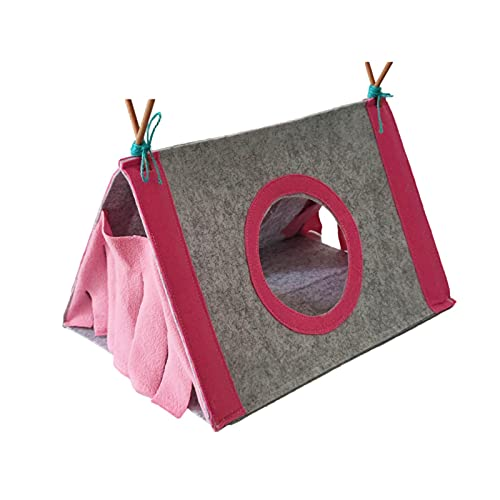 Hideout - Hideout para hámster, escondite de animales pequeños, hamaca para tienda de campaña para mascotas con accesorios para jaula para conejillo de indias, chinchilla, erizo, rata, ardilla
