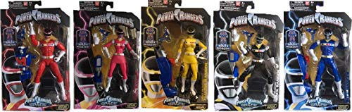 Power Rangers in Space 6.5' Red, Pink, Yellow, Black & Blue Ranger Action Figure Bundle