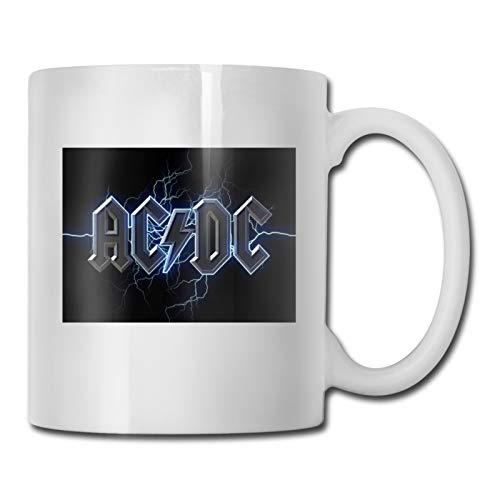 Taza de cerámica de moda taza de café taza de porcelana taza de viaje de regalo de vajilla de 11 oz Ac-Dc Lightning