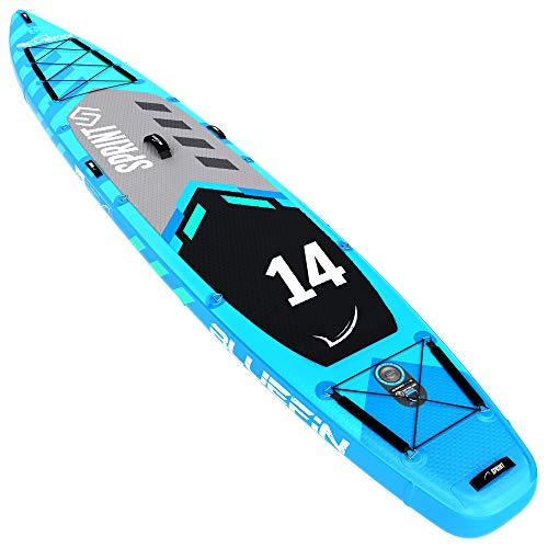 Bluefin SUP Stand Up Inflatable Paddle Board | 14' Sprint Model |...