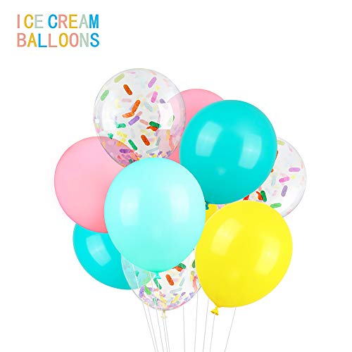 Check Out This Icecream Balloons Confetti Latex Balloons, 38 pack 12 inch Birthday Balloons with 33 ...