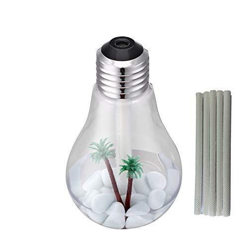 Ultrasone luchtbevochtiger, lamp, 400 ml, led, voor de fabrikant van mist, kamergeur, verstuiver voor etherische olie thuis, met led-nachtlampje, 153 x 88 mm