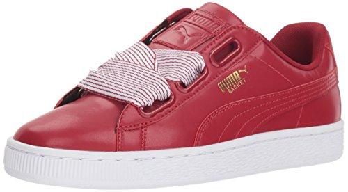 PUMA Basket Heart Wn, Zapatillas Deportivas. para Mujer, Dahlien-Figura de Dalia roja, 40 EU
