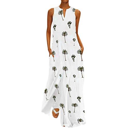 Kleid Kleider Elegant Sommerkleid Damen Sommer Jersey Boho Vintage Schöne Abend Sexy Maxi Lang Tunika Swing Festlich A-Linien Retro Abendkleid Strandkleider